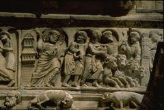 église abbatiale à Saint-Gilles-du-Gard - Jésus chasse les marchands du Temple