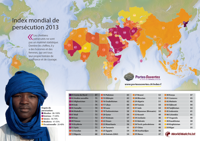 carte persecutions 2013