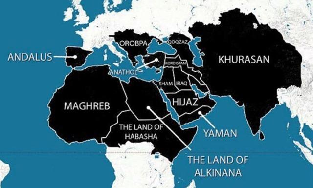 EIIL - Carte prospective du Califat
