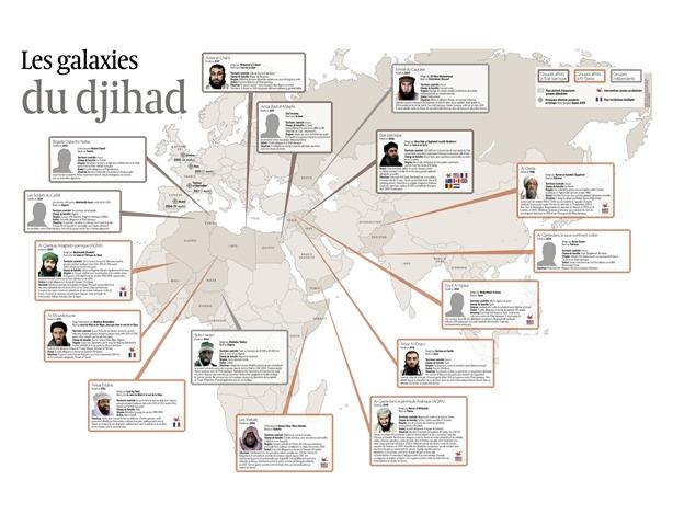 Carte interactive du Djihad Janvier 2015