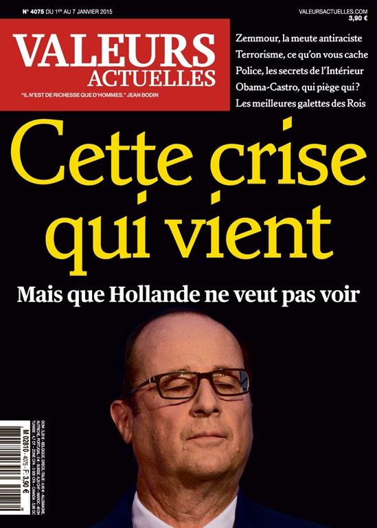 Hollande Crise qui vient Valeurs actuelles