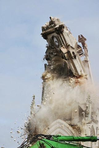 destruction de l'église d'abbeville