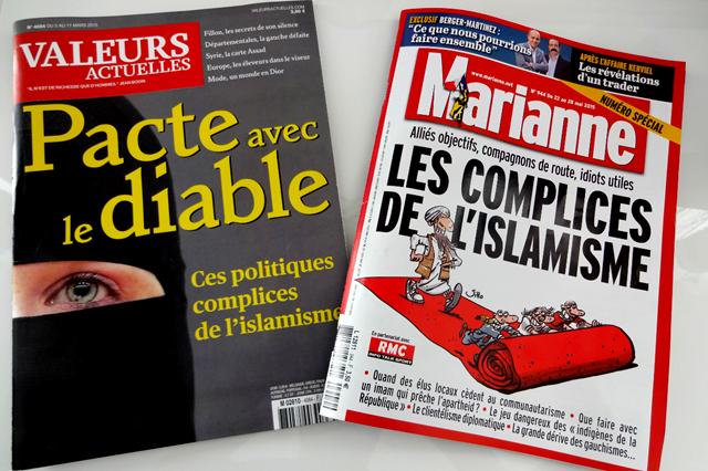 Valeurs-Actuelles-et-Marianne-même-combat-islamophobie
