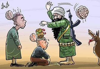 dessin_etat_islamique_daesh_isis_ei_paris_terrorisme_benaji_naji-morocco_Iran_cartoons