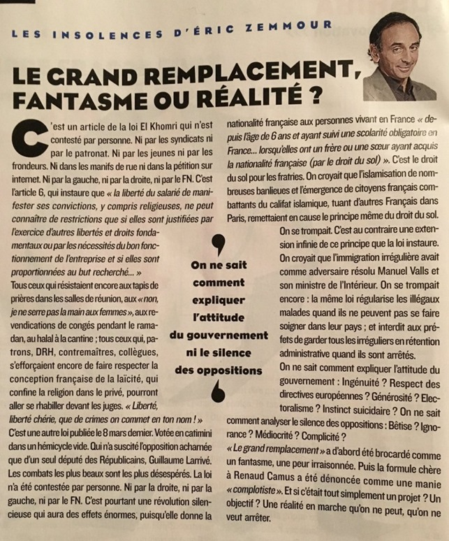 Zemmour-Grand Remplacement