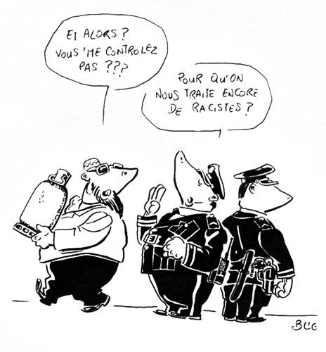 Blic_dessin_terrorisme_controle_police_racisme
