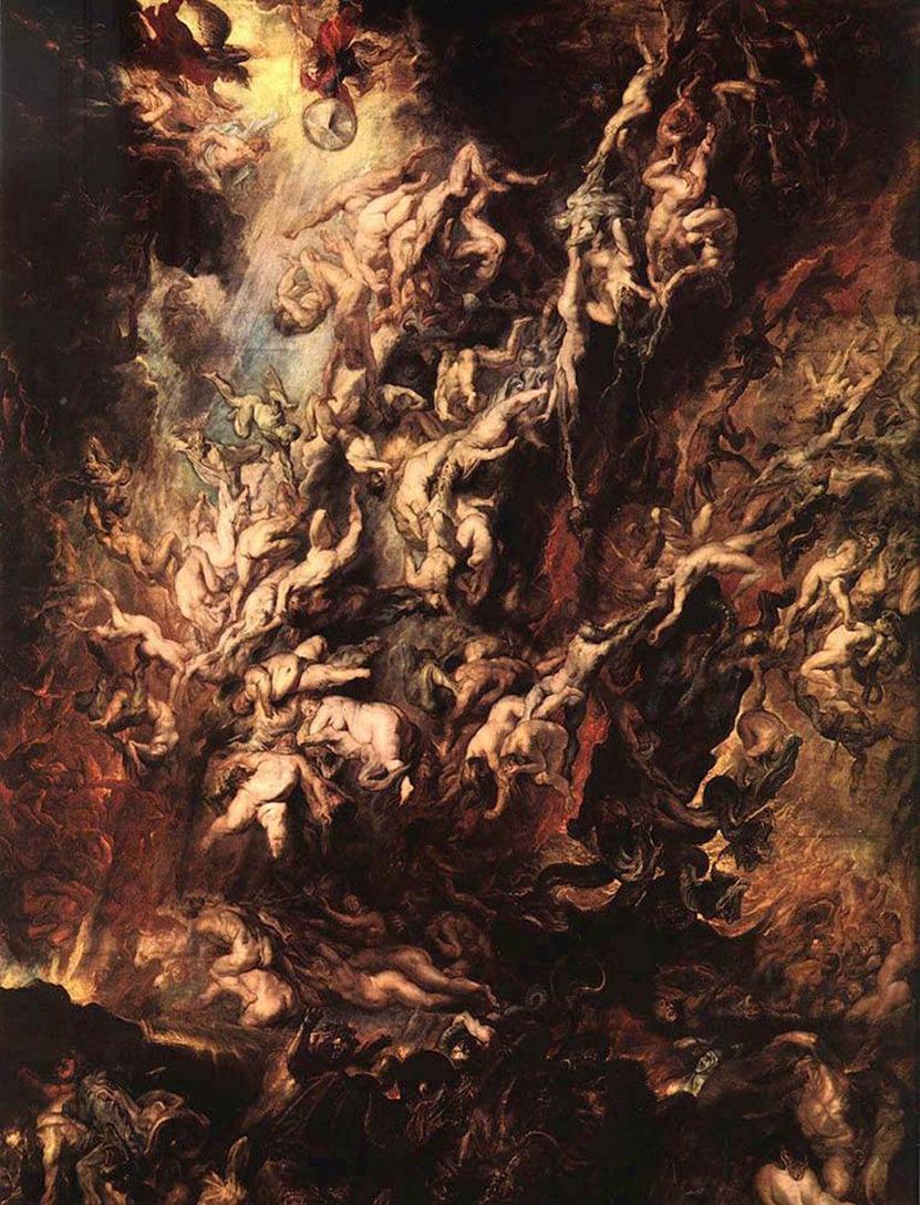 La_Chute_d_enfer_des_damnés-Peter Paul Rubens-1620