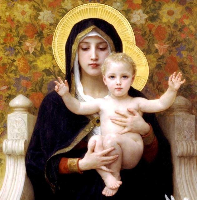 La Très Sainte Vierge Marie et le Sauveur par Bouguereau