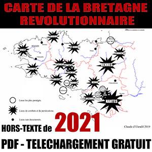 Guerres civiles européennes: Carte de la Bretagne Révolutionnaire.